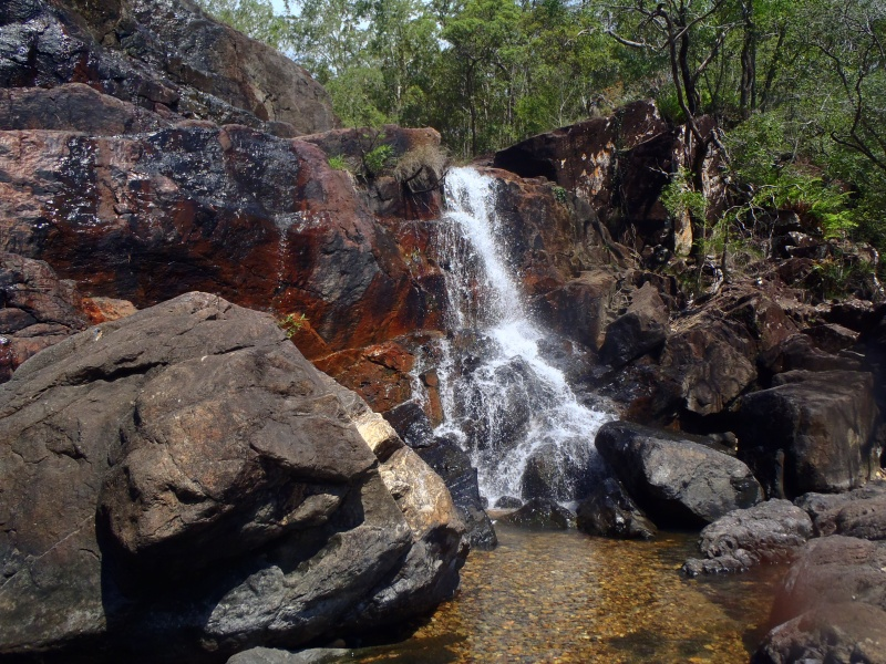 Waterfalls next to airlie beach