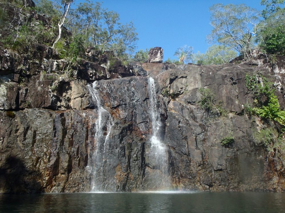 Waterfalls next to airlie beach jump